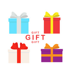 set of different gift boxes flat design vector image