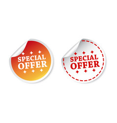 special offer stickers on white background vector image