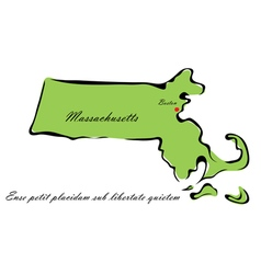 State of Massachusetts vector