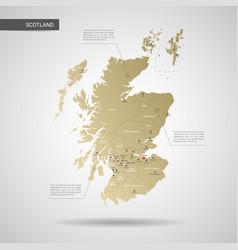 stylized scotland map vector image