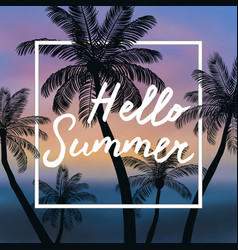 summer time background wit vector image