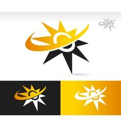 Sun swoosh logo icons vector