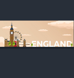 travel banner to england flat vector image