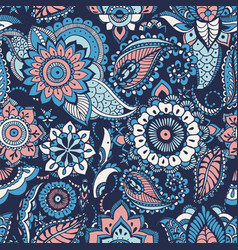 Turkish paisley seamless pattern with buta motifs vector