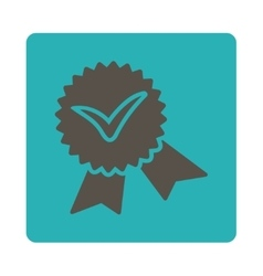 Validation seal icon from Award Buttons OverColor vector