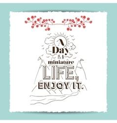 vintage message design vector image