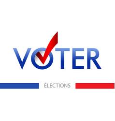 Voting banner design the word vote vector