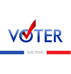 voting banner design word vote is vector image