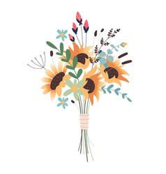 wedding concept flower bouquet bunch flowers vector image