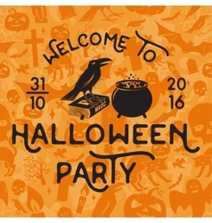 Welcome to Halloween party vector image