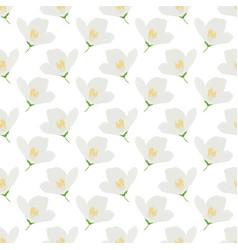 white jasmine flowers seamless pattern for vector image