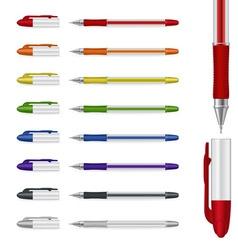 ballpoint pens set vector image vector image