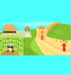china landscape concept cartoon style vector image vector image