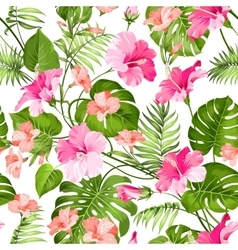 Tropical flower pattern vector image