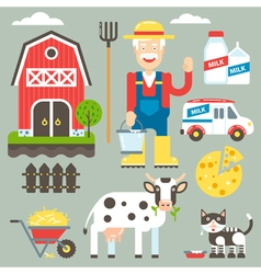 Farm Set vector image vector image