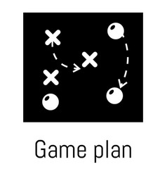 game plan icon simple black style vector image vector image