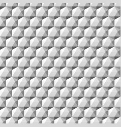 gray geometric 3d shapes - seamless vector image vector image