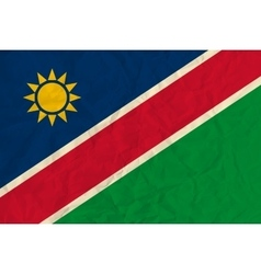 Namibia paper flag vector image vector image