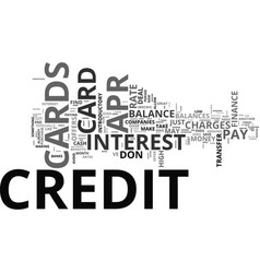 apr credit cards how can they do that text word vector image vector image
