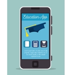 education online smartphone app design vector image