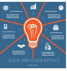 Idea Business Concept Light bulb infographic 7 vector image