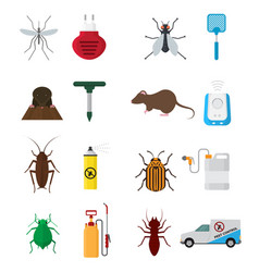 insects control anti pest insecticide vector image