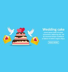 wedding cake banner horizontal concept vector image