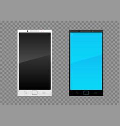 white black smartphone vector image