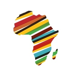 Africa map silhouette vector