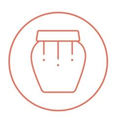 Drum instrument line icon vector image