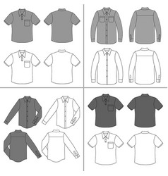 mans shirt set vector image vector image