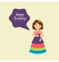 Princess with speech bubble vector image