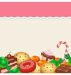 Seamless pattern colorful sticker candy sweets vector image vector image