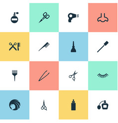 set of simple spa icons vector image vector image