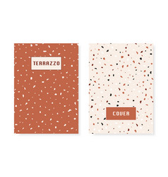 2 covers with terrazzo flooring imitation pattern vector image