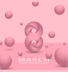 8 march happy international women is day spring vector image