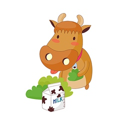 A view of cow vector image