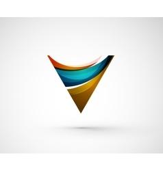 Abstract geometric company logo triangle arrow vector image
