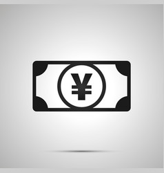 abstract money banknote with jpy sign simple vector image