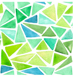 abstract pattern with green triangles vector image