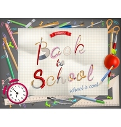 Back to school greeting card EPS 10 vector