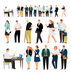 bank business service queue people vector image