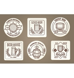 Beer coaster or drink coaster vector image