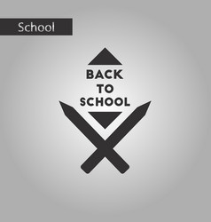 black and white style icon back to school pencil vector image