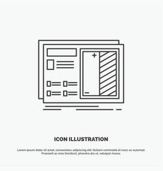 Blueprint design drawing plan prototype icon line vector