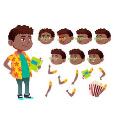 boy child kid teen black afro american vector image