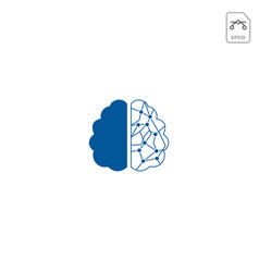 brain tech logo icon isolated element vector image