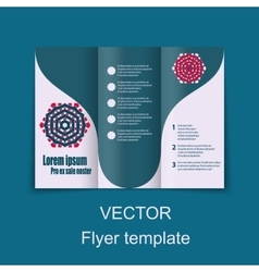 Brochures design for social infographic diagram vector image