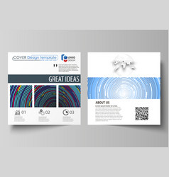 business templates for square design brochure vector image