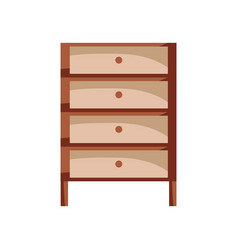 Cabinet archive file document with drawer vector